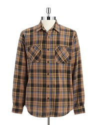 Dockers Flannel Sportshirt Rust Copper