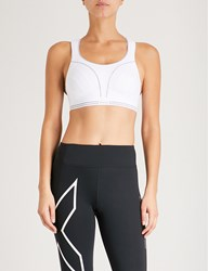 Shock Absorber Ultimate Run Stretch Jersey Sports Bra White