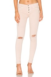 Black Orchid Candice Button Front Skinny Rosewater