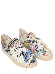 Ports 1961 20Mm Knot Hand Drawn Canvas Sneakers