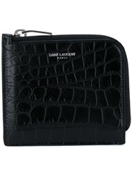 Saint Laurent Paris Zipped Coin Pouch Black