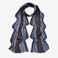Bally Men's Jacquard Wool Scarf In Multi Ink Blue