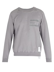 Satisfy Cult Distressed Cotton Sweater Light Grey