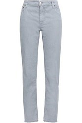 Brunello Cucinelli Woman Cropped Mid Rise Straight Leg Jeans Stone