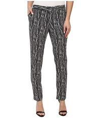 Vince Camuto Linear Scratches Skinny Ankle Pant Rich Black Women's Casual Pants