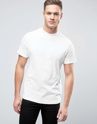 Selected Homme High Neck Tee Bright White