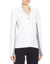 Calvin Klein Honeycomb Zip Jacket White