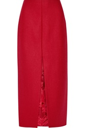 Carven Virgin Wool Blend Midi Skirt