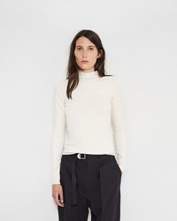 Christophe Lemaire Second Skin High Neck Sweater Cream