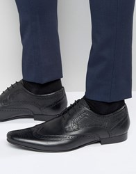 Kurt Geiger London Bassie Derby Brogue Shoes Black