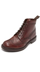 Loake 1880 Bedale Heavy Brogue Boots Brown Grain