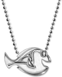 Alex Woo Sterling Silver 'Finding Dory' Dory Pendant Necklace