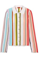 Missoni Striped Ribbed Cotton Shirt Pink