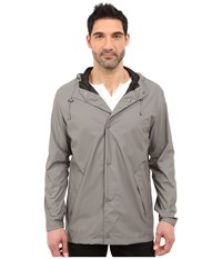 Cole Haan 32 Rubberized Rain Jacket Ironstone Men's Coat Gray