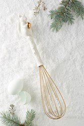 Anthropologie Ceramic Squirrel Whisk White