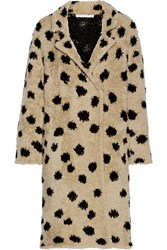 Thakoon Ocelot Wool Blend Coat Black