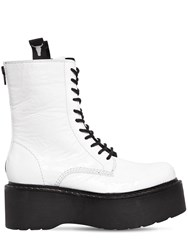 Windsor Smith 70Mm Lindsay Patent Leather Wedge Boots White