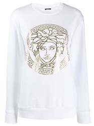 Versace Medusa Head Sweatshirt White