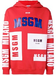 Msgm 2540Mm174799 18 Rosso Natural Vegetable Cotton Red