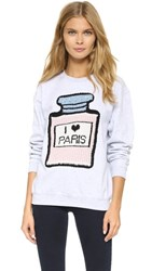 Michaela Buerger I Love Paris Sweatshirt Light Grey