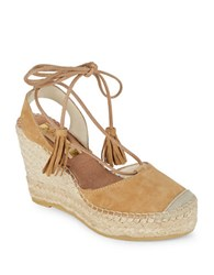Vidorreta Silvia Lace Up Platform Wedges Tan