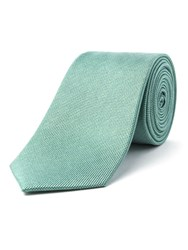 Racing Green Stellar Semi Plain Silk Tie Green