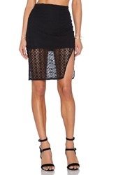 Donna Mizani Orbit Midi Slit Skirt Black