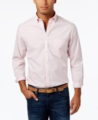 Club Room Men's Cotton Gingham Shirt Only At Macy's Sorbet Pink