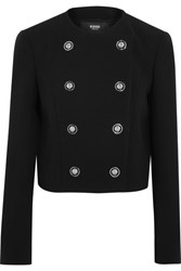 Versus By Versace Double Breasted Cady Jacket Black