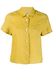 Margaret Howell Cropped Shirt Yellow