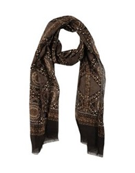 Paolo Pecora Oblong Scarves Dark Brown