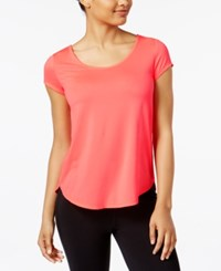 Calvin Klein Performance Space Dyed Strappy Back T Shirt Neon Calypso