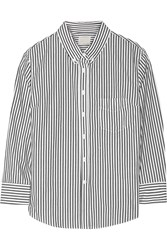 Band Of Outsiders Striped Cotton Shirt White