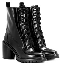 Marc Jacobs Leather Lace Up Boots Black