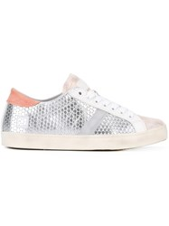 D.A.T.E. Embossed Sneakers Metallic