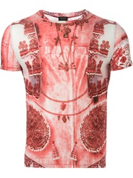 Jean Paul Gaultier Vintage 'Tattoo' T Shirt Red