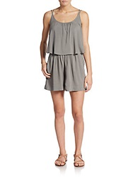 Candc California Challis Popover Short Jumpsuit Light Grey