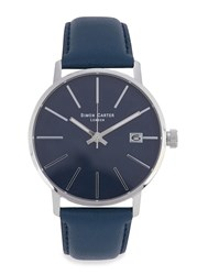 Simon Carter Stainless Steel Watch Blue