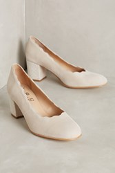 Anthropologie Kmb Scalloped And Studded Pumps Neutral