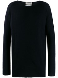 Junya Watanabe Man Long Sleeved Jumper Blue