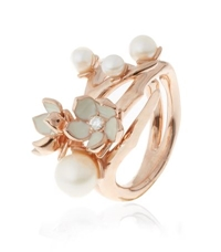 Shaun Leane Cherry Blossom Ring With Diamonds And Pearls