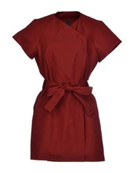 Gareth Pugh Full Length Jackets Maroon
