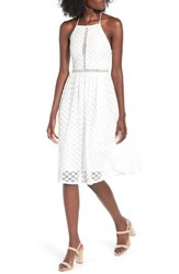 Soprano Women's Lace Midi Dress Ivory