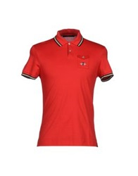 Les Copains Polo Shirts Red