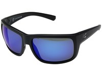Kaenon Redwood Matte Black Pacific Blue Mirror Athletic Performance Sport Sunglasses Green