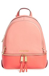 Michael Michael Kors 'Small Rhea' Colorblock Leather Backpack