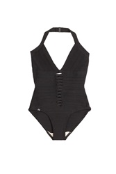 Herve Leger Herve Leger Bandage Swimsuit With Cut Out Detail Black