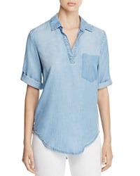 Side Stitch Removed Pocket Chambray Tunic Blue River Wash