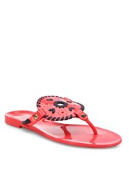 Jack Rogers Georgica Jelly Sandals Pink Berry
