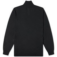 Rick Owens Oversize Turtle Neck Knit Black